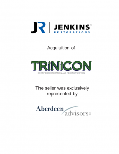 Aberdeen Advisors Negotiated the acquisition of Trinicon Restoration Tombstone by Jenkins Restorations The seller was exclusively represented by Aberdeen Advisors.